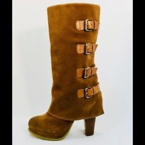 """Report """"Monroe"""" Leather Mid-Calf Boot"""